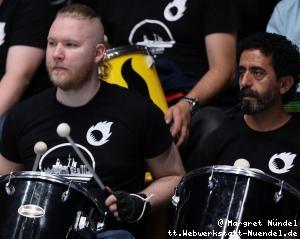 Aufwärmen: Ochsenhausener Fans